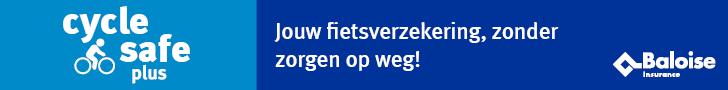 Een banner van Baloise 'Cycle Safe Plus'